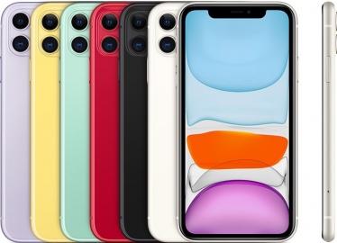 iPhone 11 kleuren in stapel.