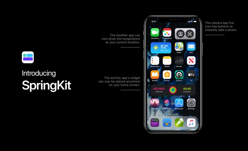 Concept met live widgets in iOS 14