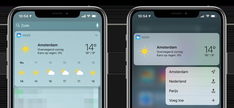 Weer-widget Apple