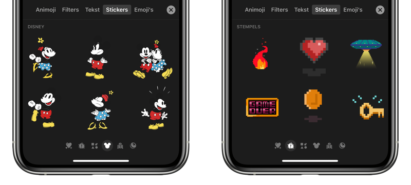 Clips stickers met Mickey Mouse en 8-bit