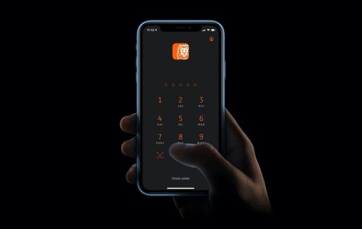 ING-app dark mode.