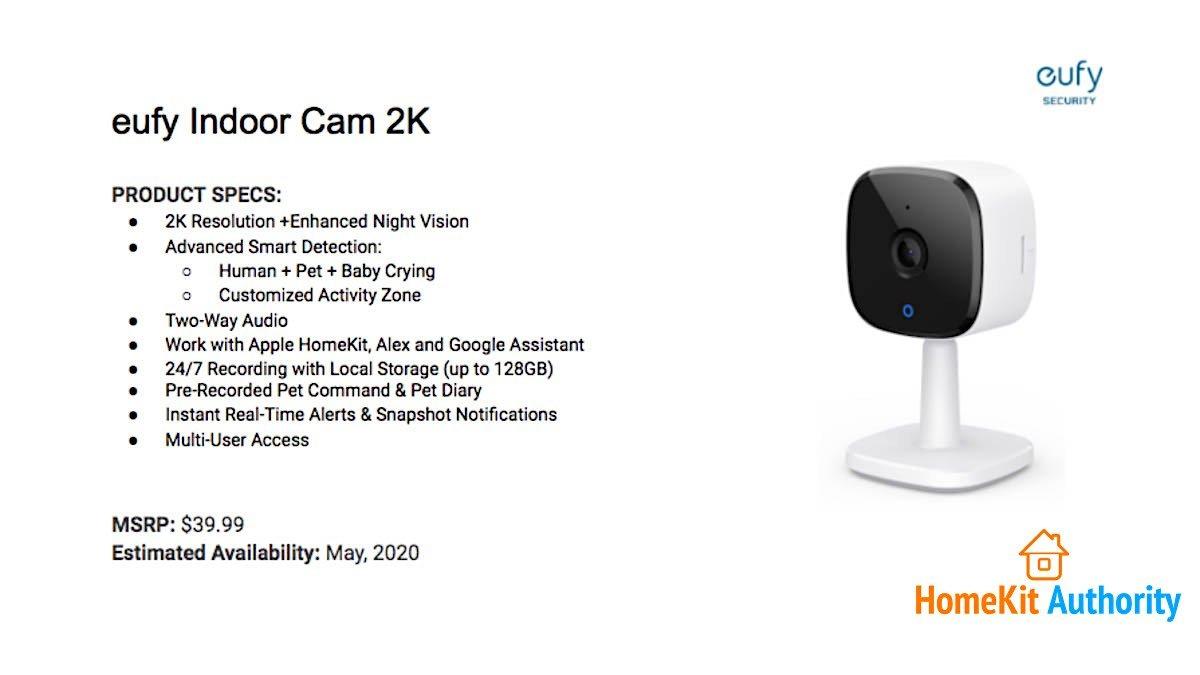 Eufy Indoor Camera 2K specs.