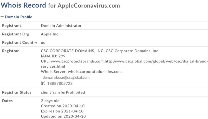 Apple Coronavirus.com