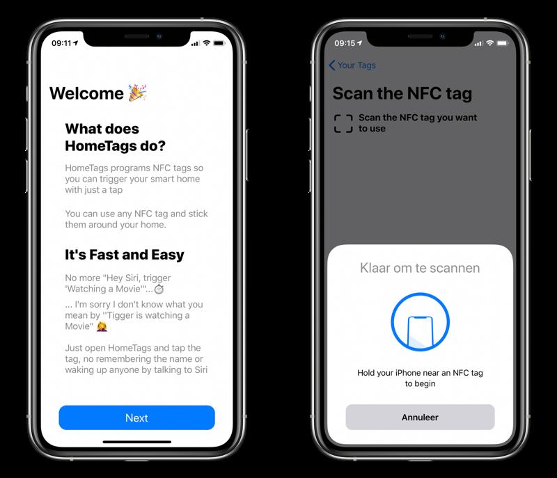 HomeTags NFC scannen.