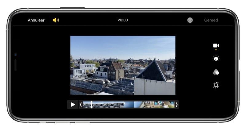 Film bewerken op iPhone