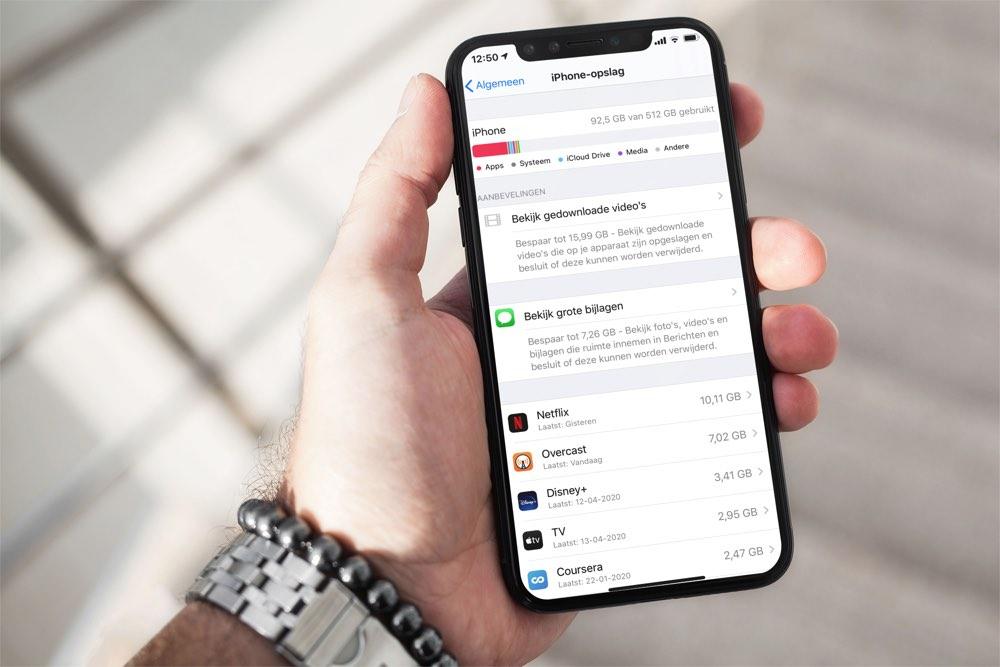 iPhone opslag nodig: hoeveel?
