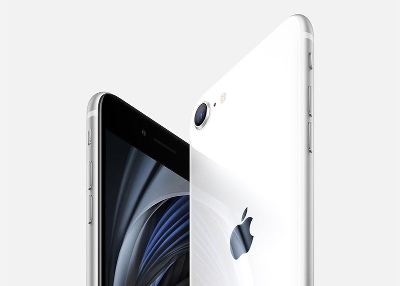 iPhone SE 2020 in wit.