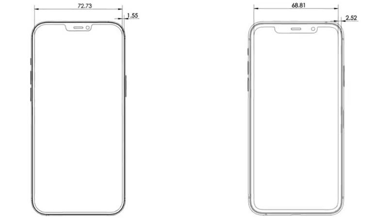 iPhone 12 Pro Max schematische tekening.