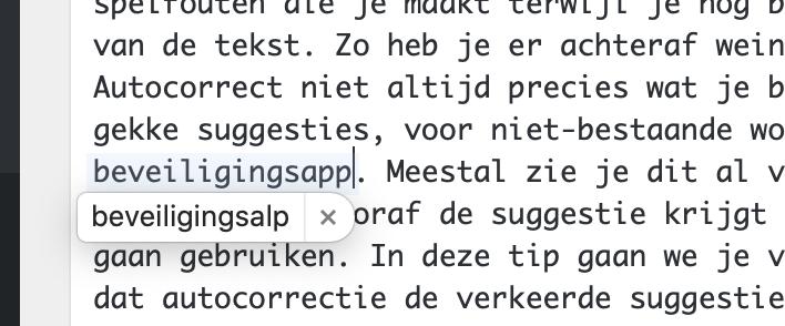 Autocorrectie macOS