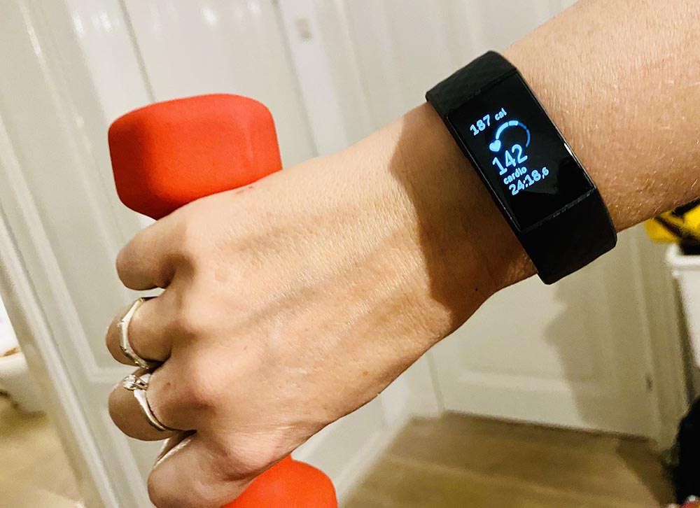 Fitbit Charge 4 tijdens een workout