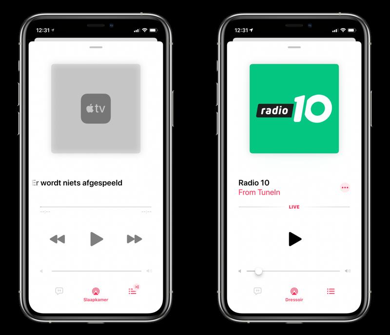 Audio en muziek op meerdere apparaten bedienen vanuit de Muziek-app.