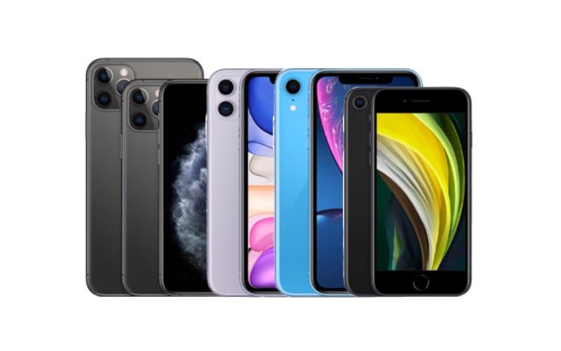 iPhone line-up voorjaar 2020.