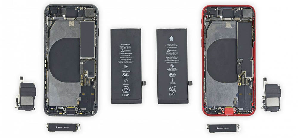 iPhone SE teardown met iPhone 8