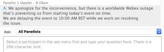 WebEx probleem