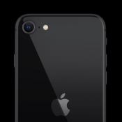 iPhone SE 2020 achterkant zwart.