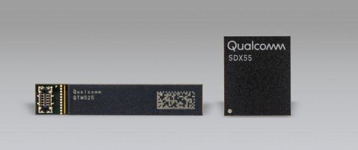 Qualcomm x55 chip en antenne