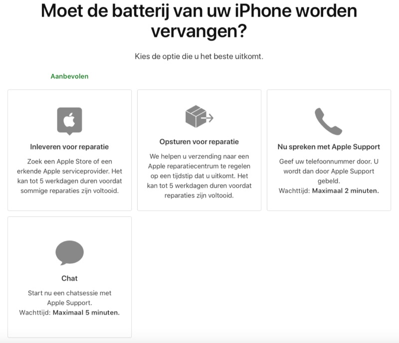 Apple Support afspraak maken via de Mac of pc.