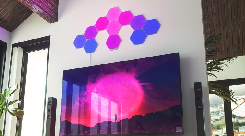 Nanoleaf Hexagon tv-kamer