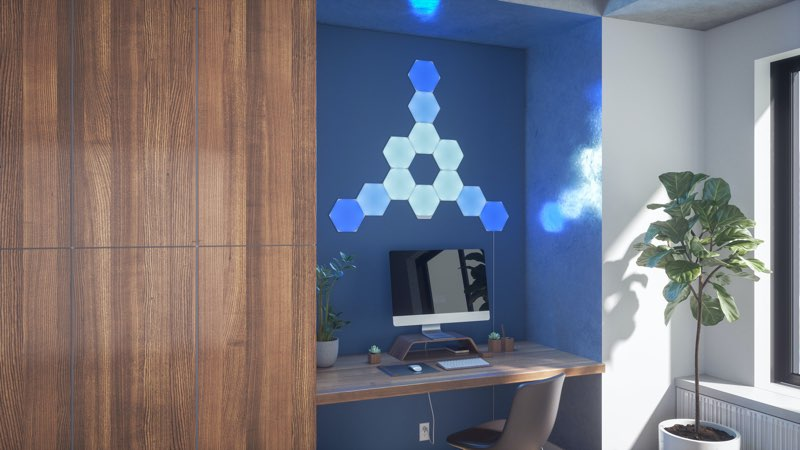 Nanoleaf Hexagon: werkkamer