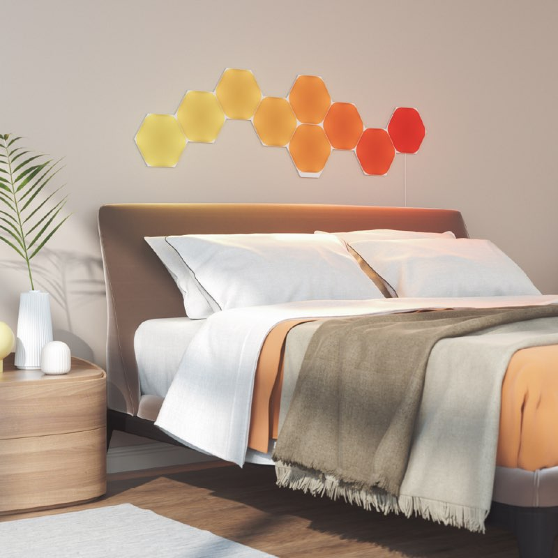 Nanoleaf Hexagon: slaapkamer