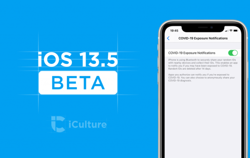 iOS 13.5 beta met COVID-19 Exposure Notifications.