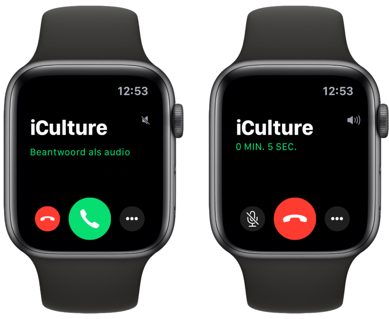 FaceTime op Apple Watch beantwoorden met audio.