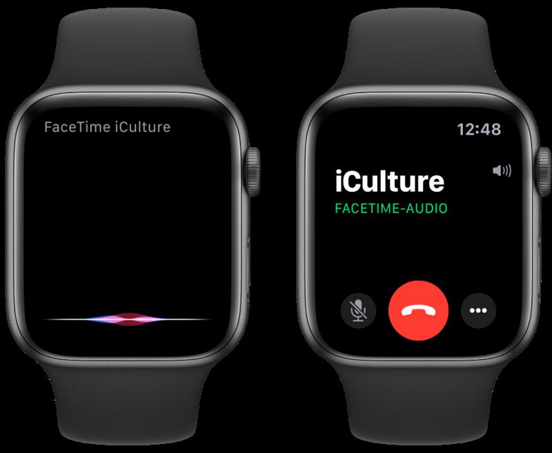 FaceTime met Siri op Apple Watch.