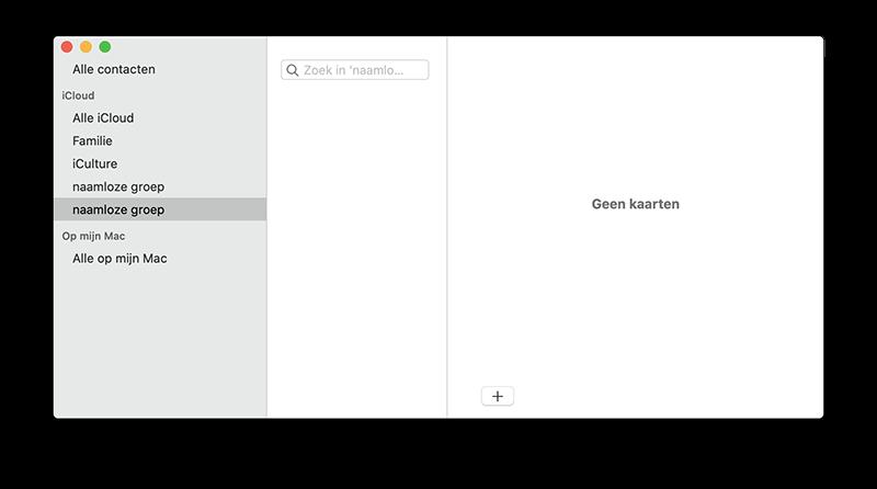 Contactgroepen maken op de Mac