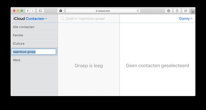 Contactgroep maken in iCloud