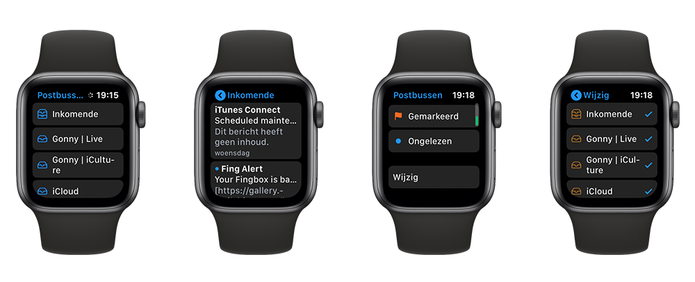 E-mail lezen op de Apple Watch