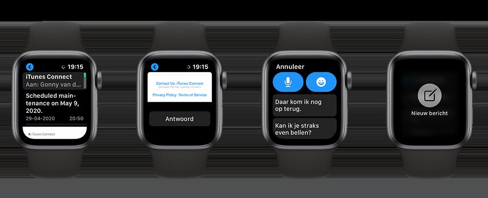 E-mail lezen en beantwoorden op de Apple Watch