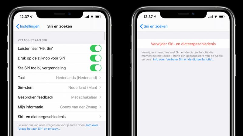 Siri synchroniseren met iCloud