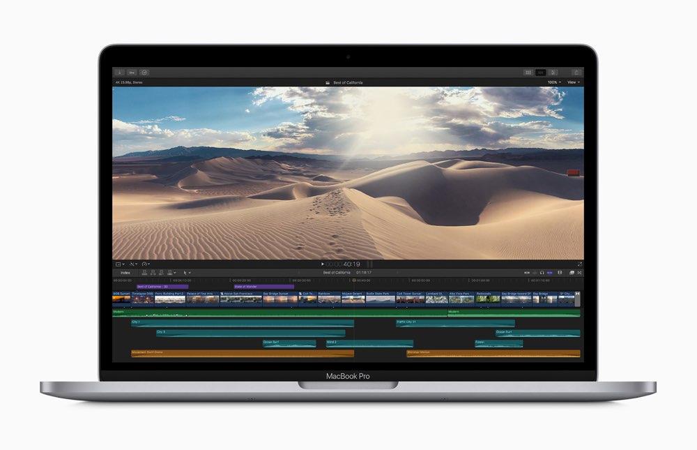13-inch MacBook Pro 2020 met Final Cut Pro