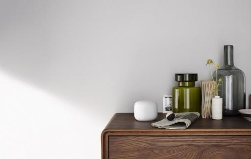 Google Nest Wifi in huiskamer