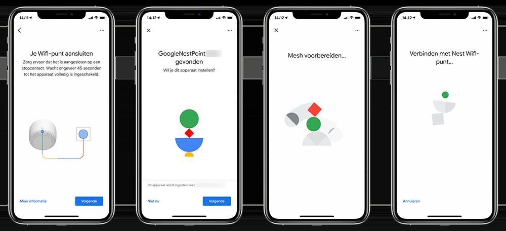 Google Nest Wifi installatie