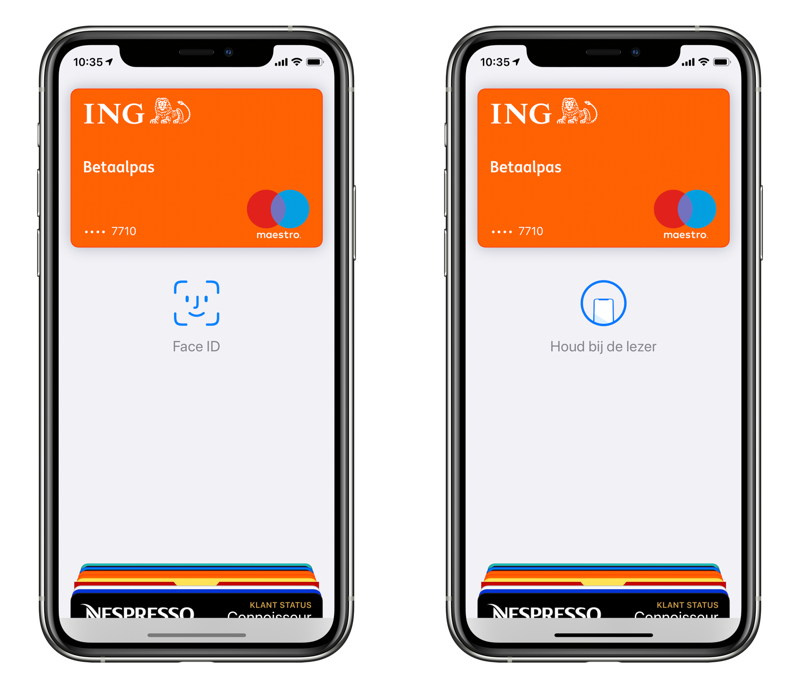 Apple Pay gebruiken en betalen met Face ID.