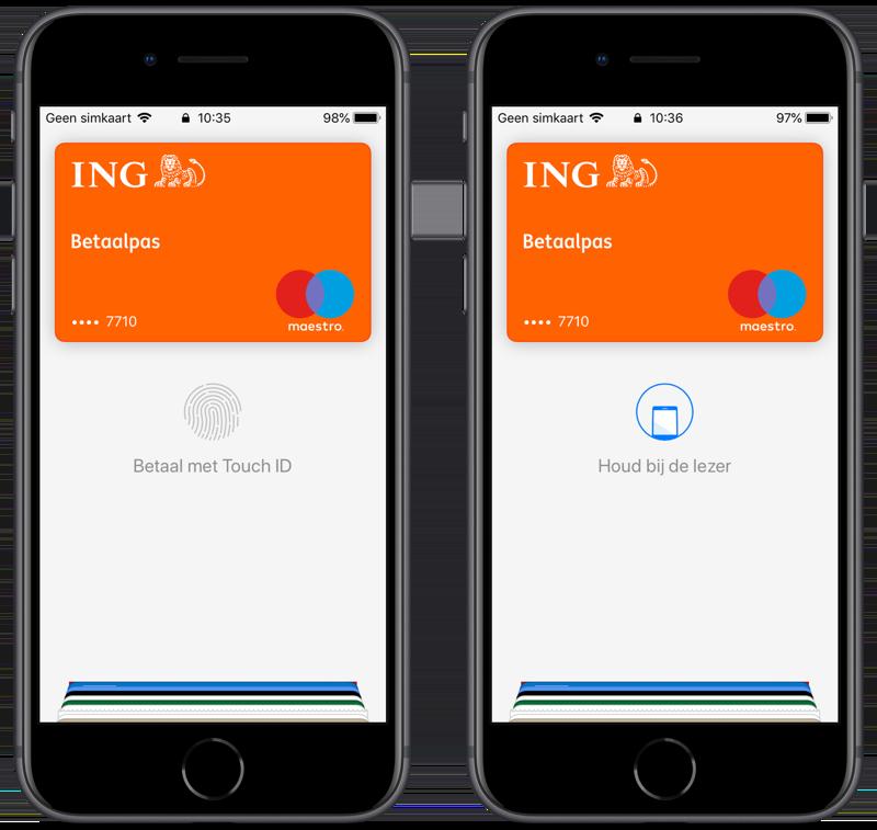 Apple Pay gebruiken en betalen met Touch ID.