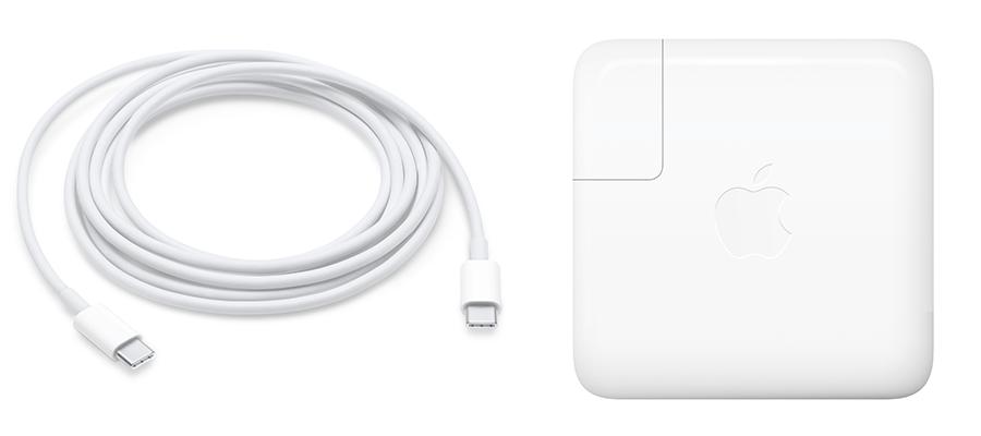 Apple USB-C MacBook oplader van 61 Watt.