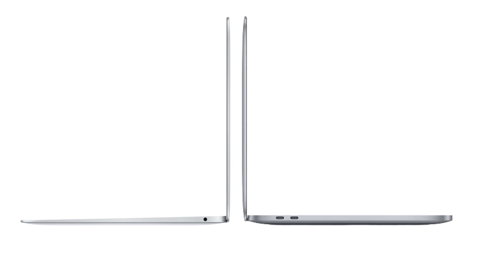 MacBook Air vs MacBook Pro vanaf de zijkant.