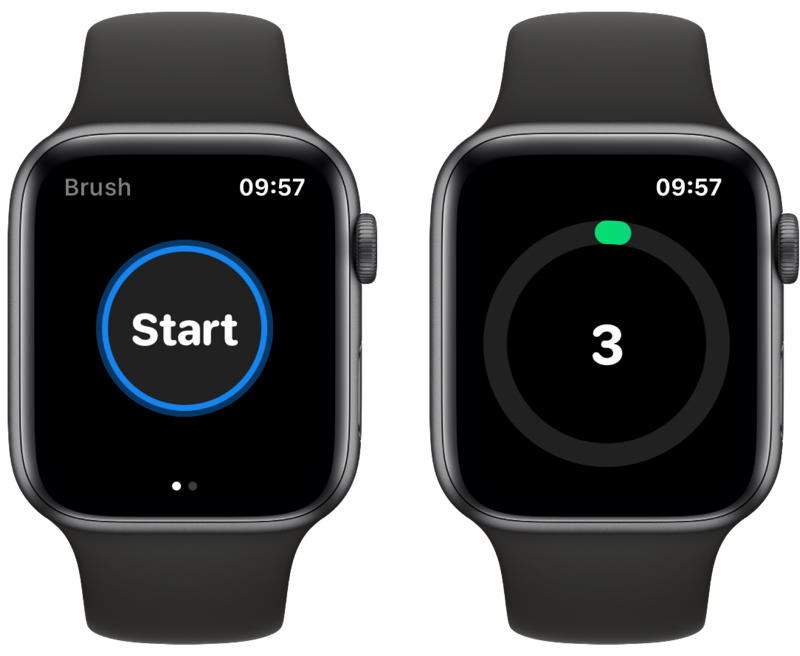 Brush: timer voor tandenpoetsen op Apple Watch.