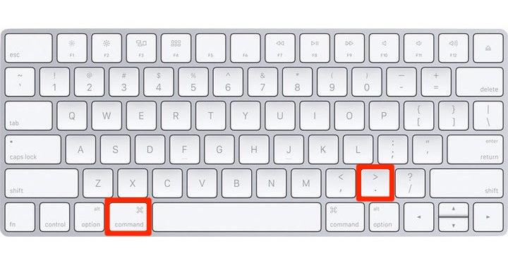 Apple toetsenbord escape sneltoets