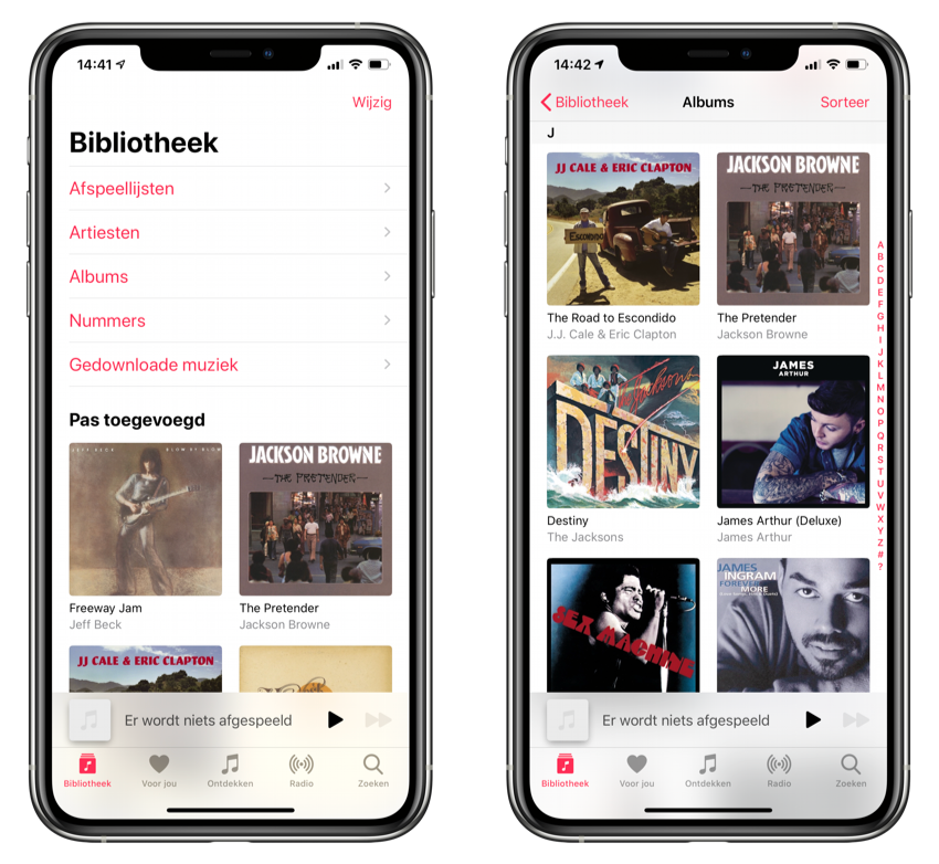 Apple Music bibliotheek