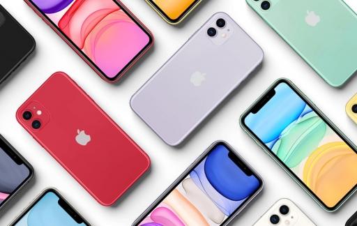 iPhone 11 kleuren op tafel.