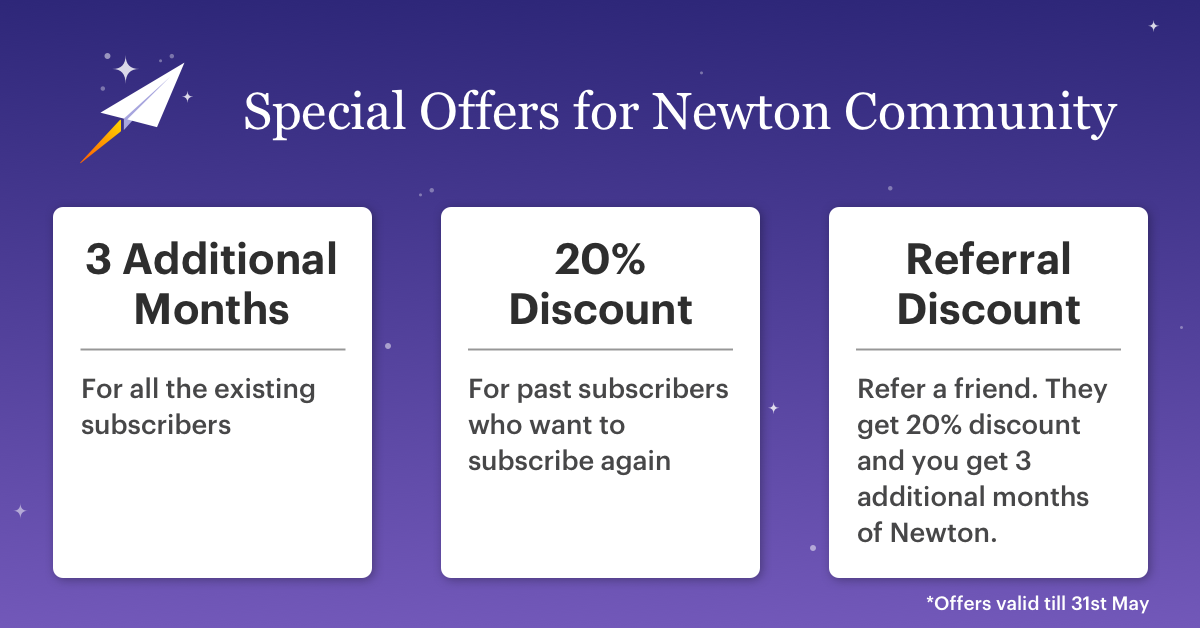 Newton Mail aanbieding.