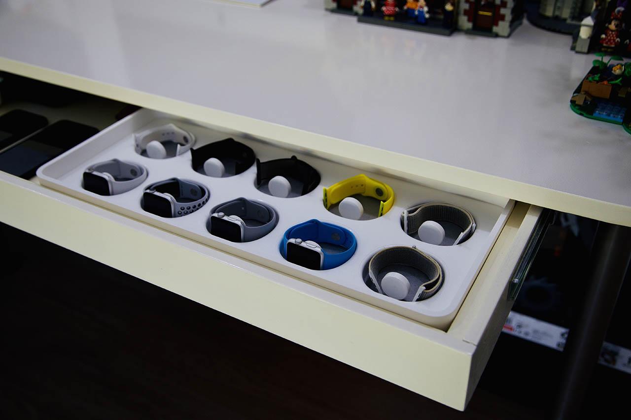 Thuiswerkplek Bas: Apple Watch-lade