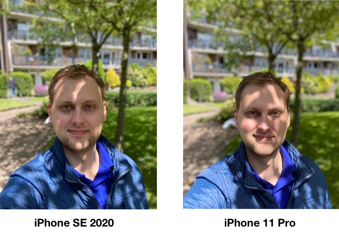 iPhone SE 2020 review: portrait photo vs iPhone 11 Pro.