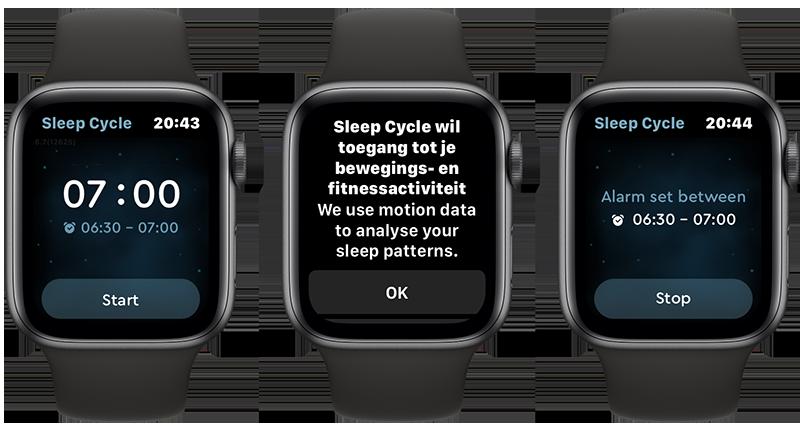 Sleep Cycle of Apple Watch, wekker instellen