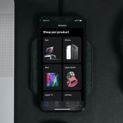 Apple Store app in het donker.