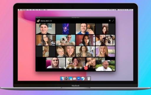 Messenger Rooms in Facebook Messenger voor Mac.
