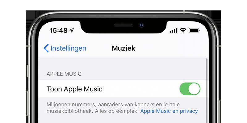 Apple Music verbergen op iPhone